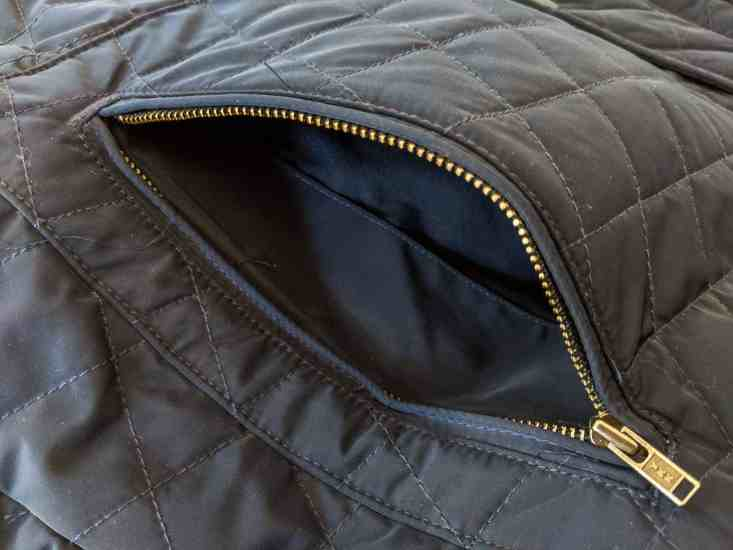 Bluffworks Horizon Quilted Vest Hand-Warmer Pocket Open