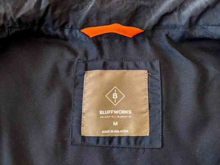 Bluffworks Horizon Quilted Vest Tag