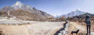 Nepal Three Passes Trek Khumjung Panorama