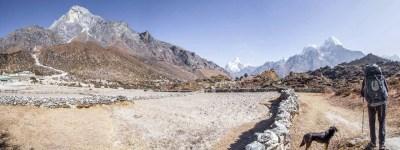 Nepal Three Passes Trek Khumjung Panorama