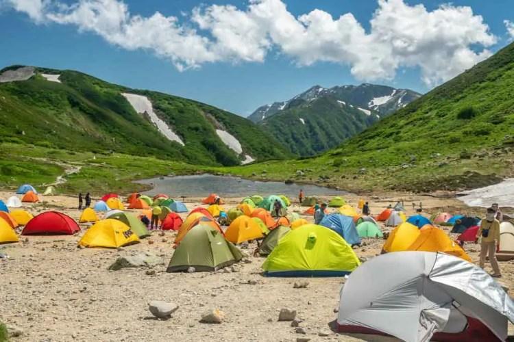 Japan Alps Traverse Kita Alps Campground