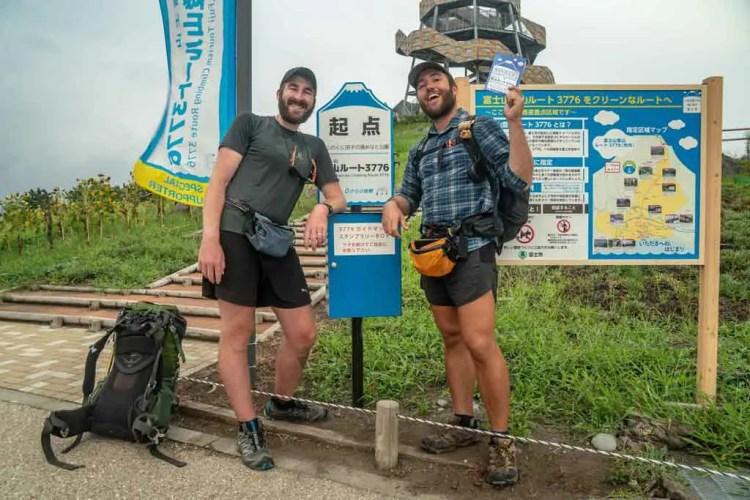 Japan Alps Traverse Mount Fuji Start