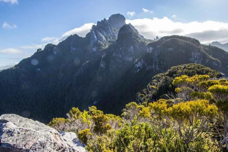 Tasmania Federation Peak Track Summit View