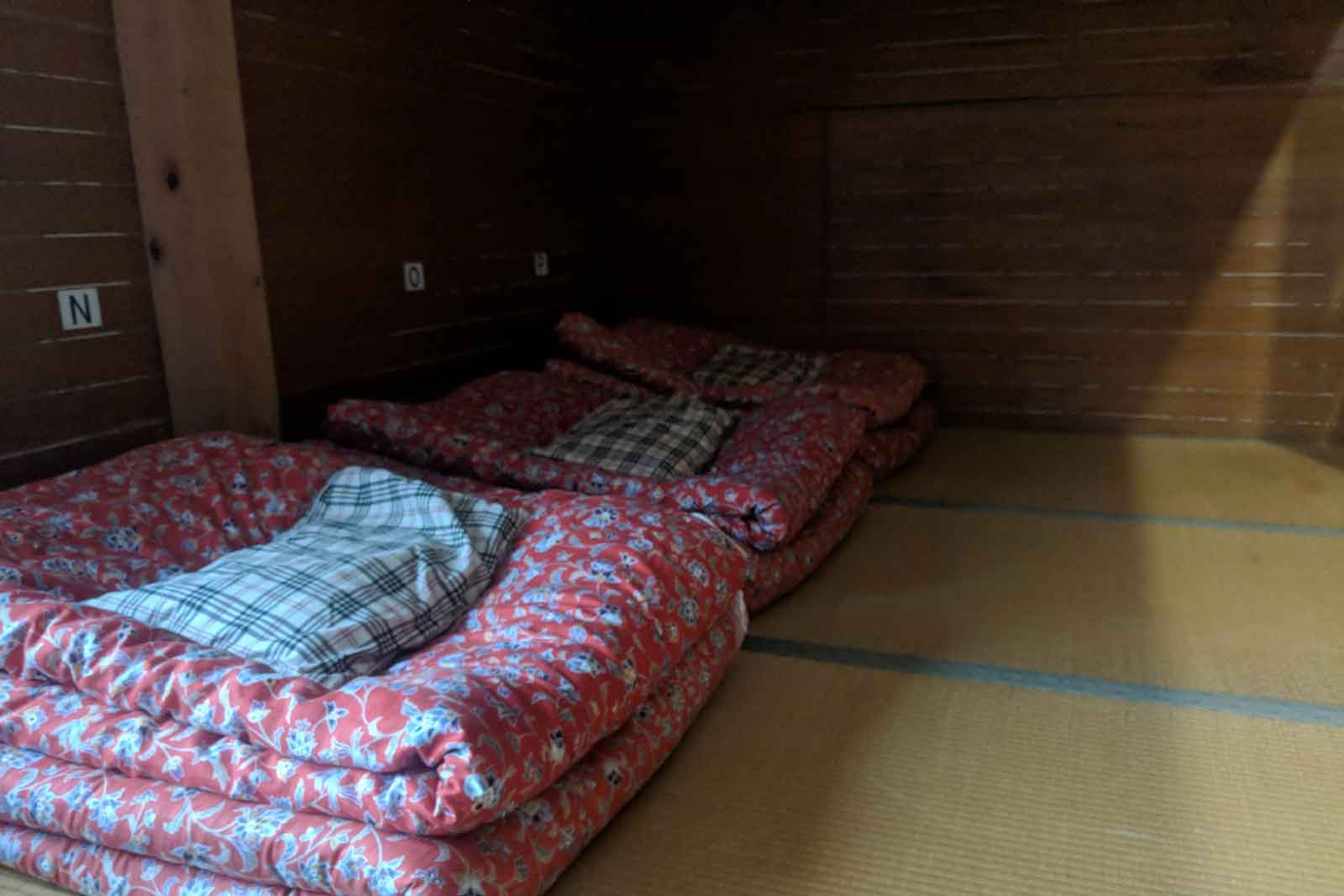 Japan Alps Traverse Kita Alps Hut Sleeping