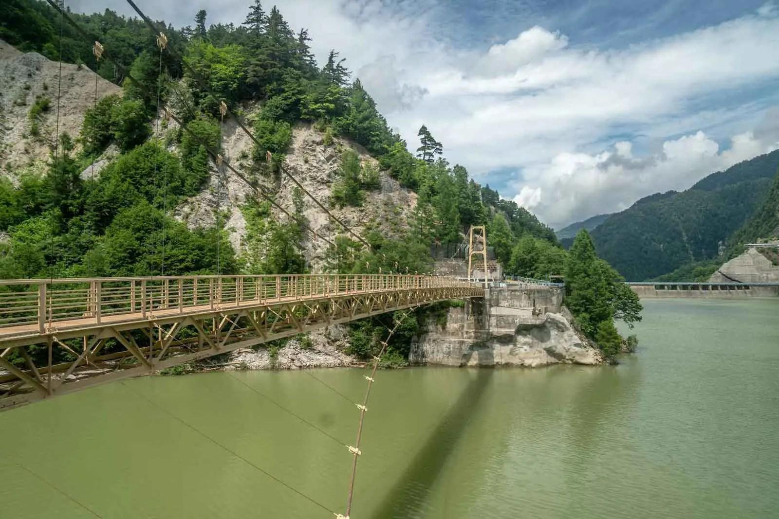 Japan Alps Traverse Kita Alps Kurobe Dam Bridge