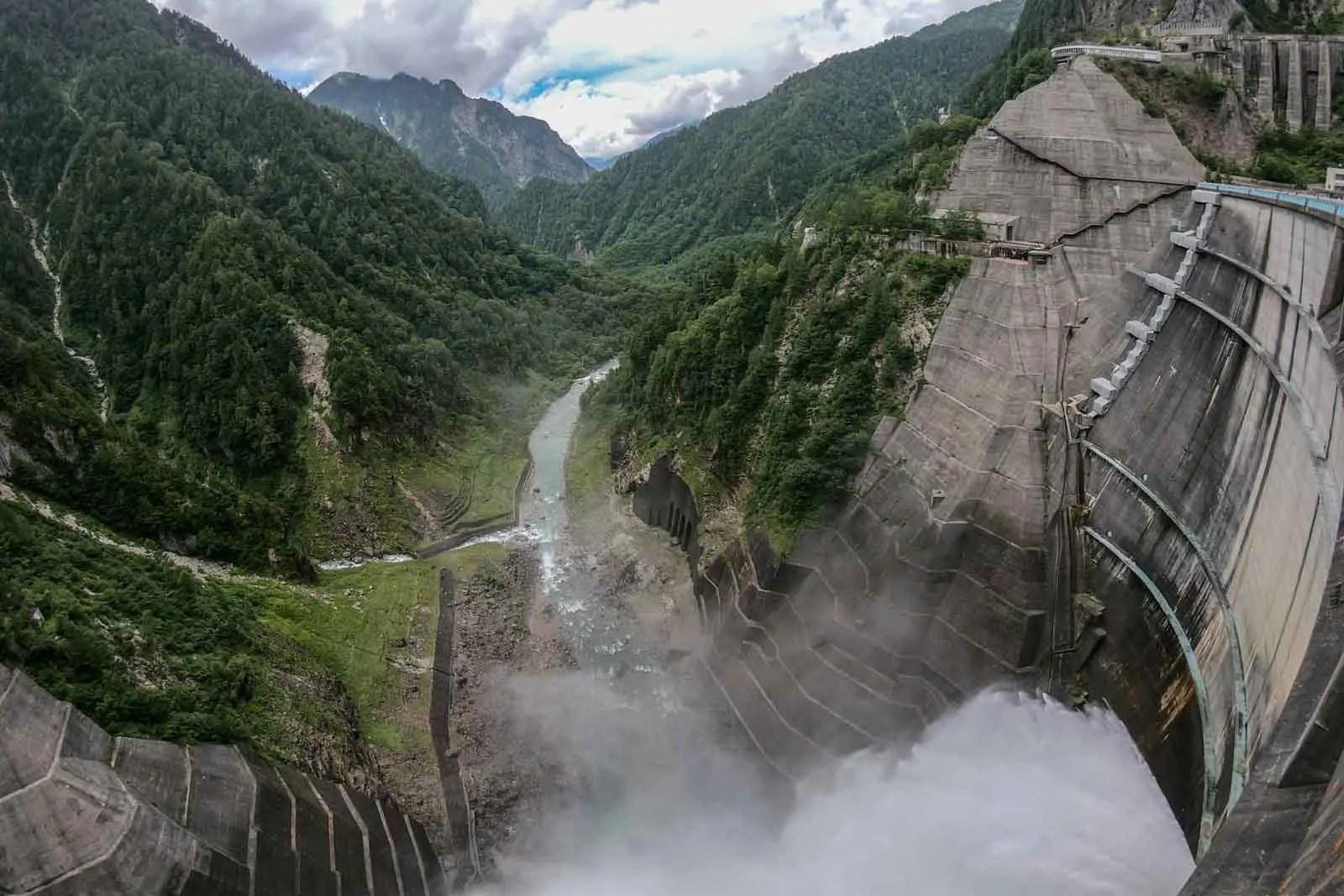 Japan Alps Traverse Kita Alps Kurobe Dam
