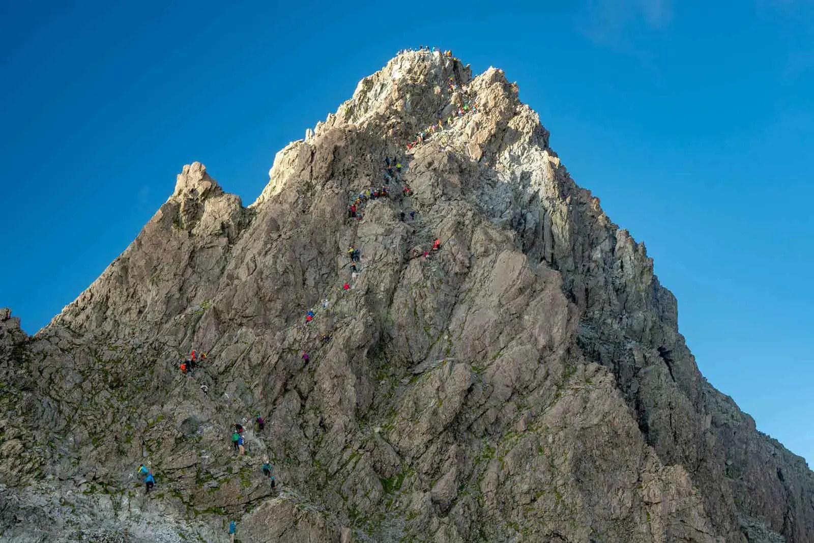 Japan Alps Traverse Kita Alps Yarigatake Crowds