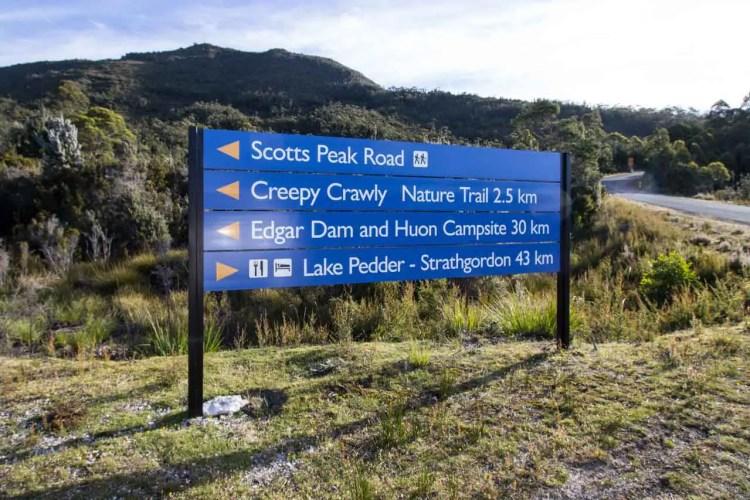 Tasmania Mount Anne Circuit Scotts Peak Road