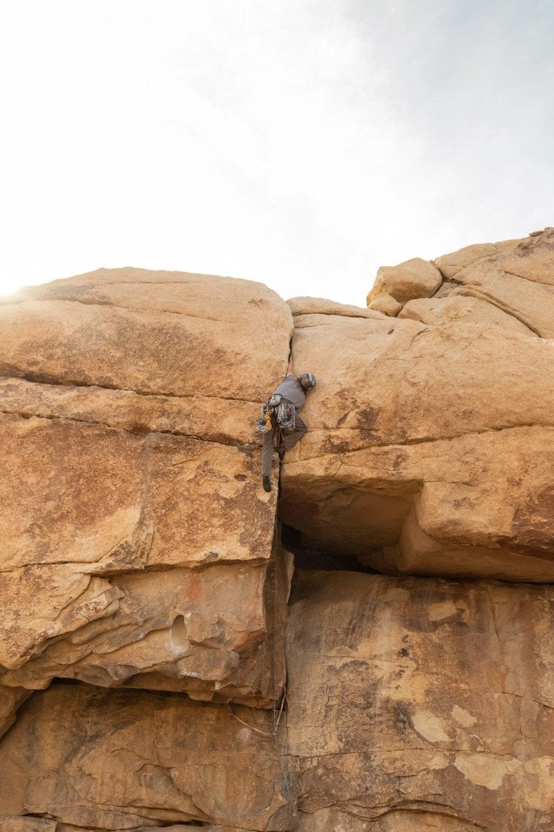 climbing in joshua tree