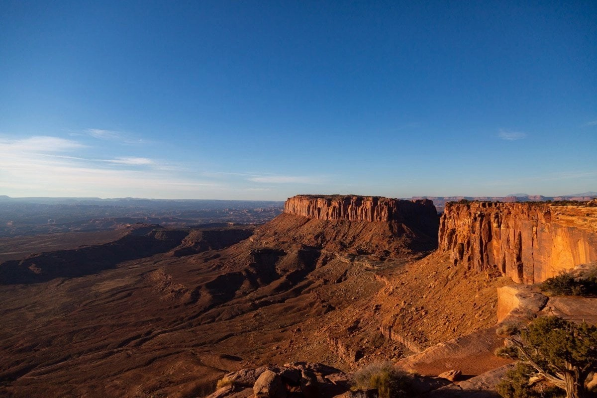 grand view point overlook in canyonlands national park
