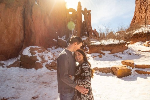 Garden of the Gods adventure session with a lovely couple in Colorado. These two chose a candid and adventurous day to capture their love after getting engaged. Adventure sessions are a great way to capture what you love doing most together- exploring nature and getting outside