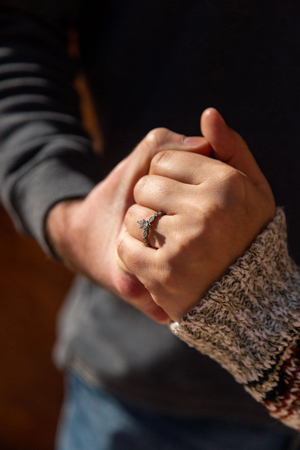 Engagement ring shot in Garden of the Gods Colorado. Rings are best shown off in nature