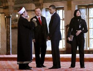 Обама с Эрдоганом в мечети