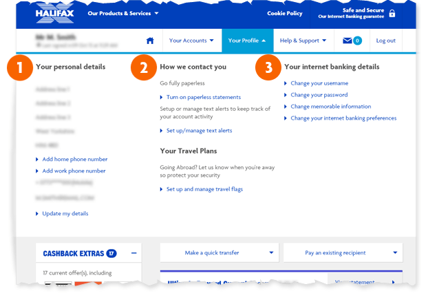 Halifax Uk Managing Your Personal Details