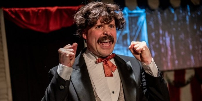 Andrew Chandler as John Wilkes Booth in the Whale Song Theatre production of Assassins. Photo by Stoo Metz Photography.