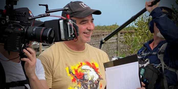 """""""Everyone was extremely decent and kind but you just felt the birds were more important than the camera at all times. Not in the pejorative but they are very ADD. They see a bird and they are gone."""" - filmmaker Michael Melski (pictured above on location during the filming of Rare Bird Alert)."""