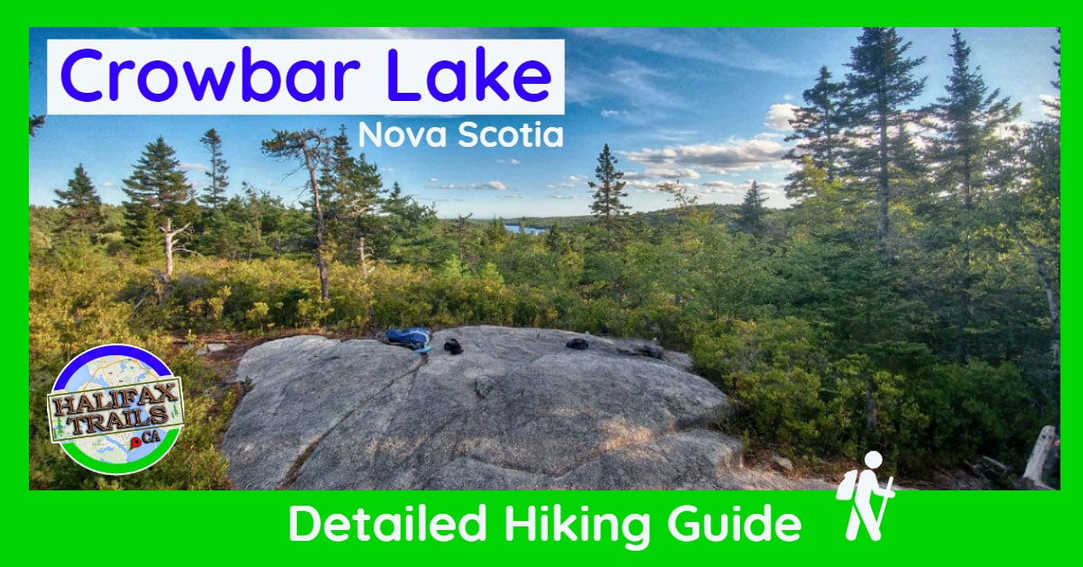 Crowbar Lake Hiking Trail Halifax Nova Scotia Porters Lake