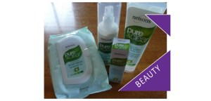 Nelsons Pure and Clear skincare wipes and cleanser