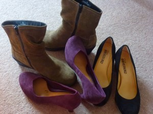 Suede shoes-heels, courts and boots