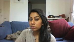 Brown smokey eye makeup on brown skin