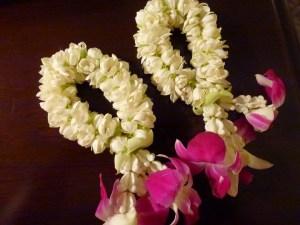 Flower garlands from the Mandarin Oriental Bangkok