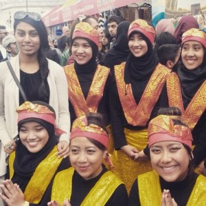 Malaysian Dancers at Trafalgar Square Eid festival