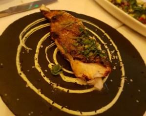 Black cod on a slate plate
