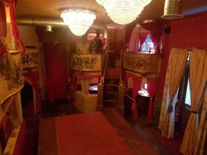 Theatrical decor with stalls at TWID Battersea restaurant