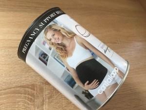 Pregnancy support belt box