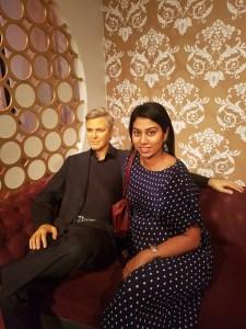 George Clooney waxwork at Madame Tussauds