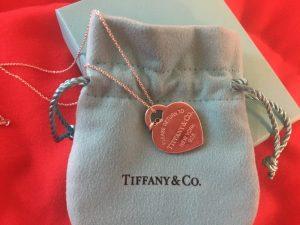 Tiffany and Co heart and key tag