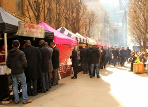 Devonshire Square food stalls