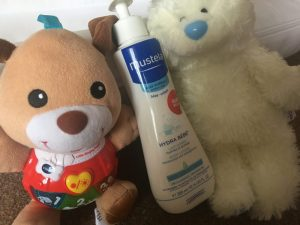 Mustela Hydra Bebe body lotion with baby toys!
