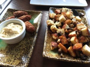 halloumi and falafel Turkish starters