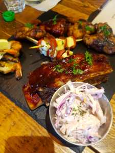 halal ribs and starters