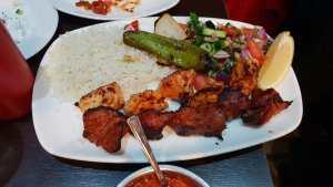 Chicken and lamb kebab