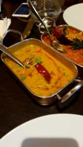 Daal and lamb curry