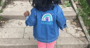 My 1st years personalised denim jacket