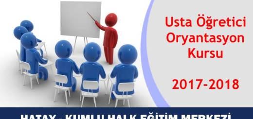 HATAY-KUMLU-Usta-Öğretici-Oryantasyon-Kursu-2017-2018