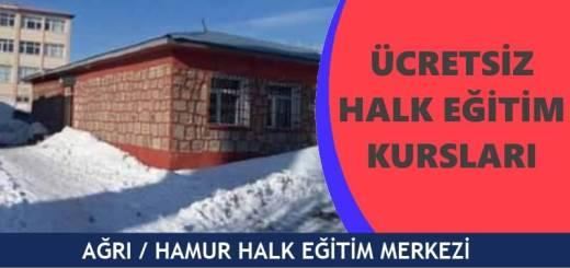 AĞRI-HAMUR-Halk-Eğitim-Merkezi-Kursları