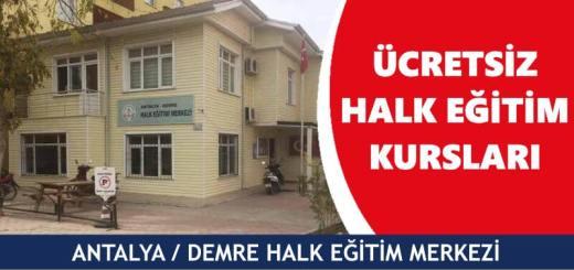 ANTALYA-DEMRE-Halk-Eğitim-Merkezi-Kursları