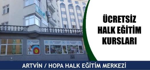 ARTVİN-HOPA-ücretsiz-halk-eğitim-merkezi-kursları