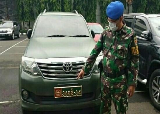Viral Video Warga Sipil Pakai Mobil TNI, Puspomad Periksa Pemakai dan Sita Mobilnya