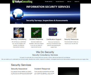 Halkyn Consulting – Site Redesign / Cyber Security Cluster