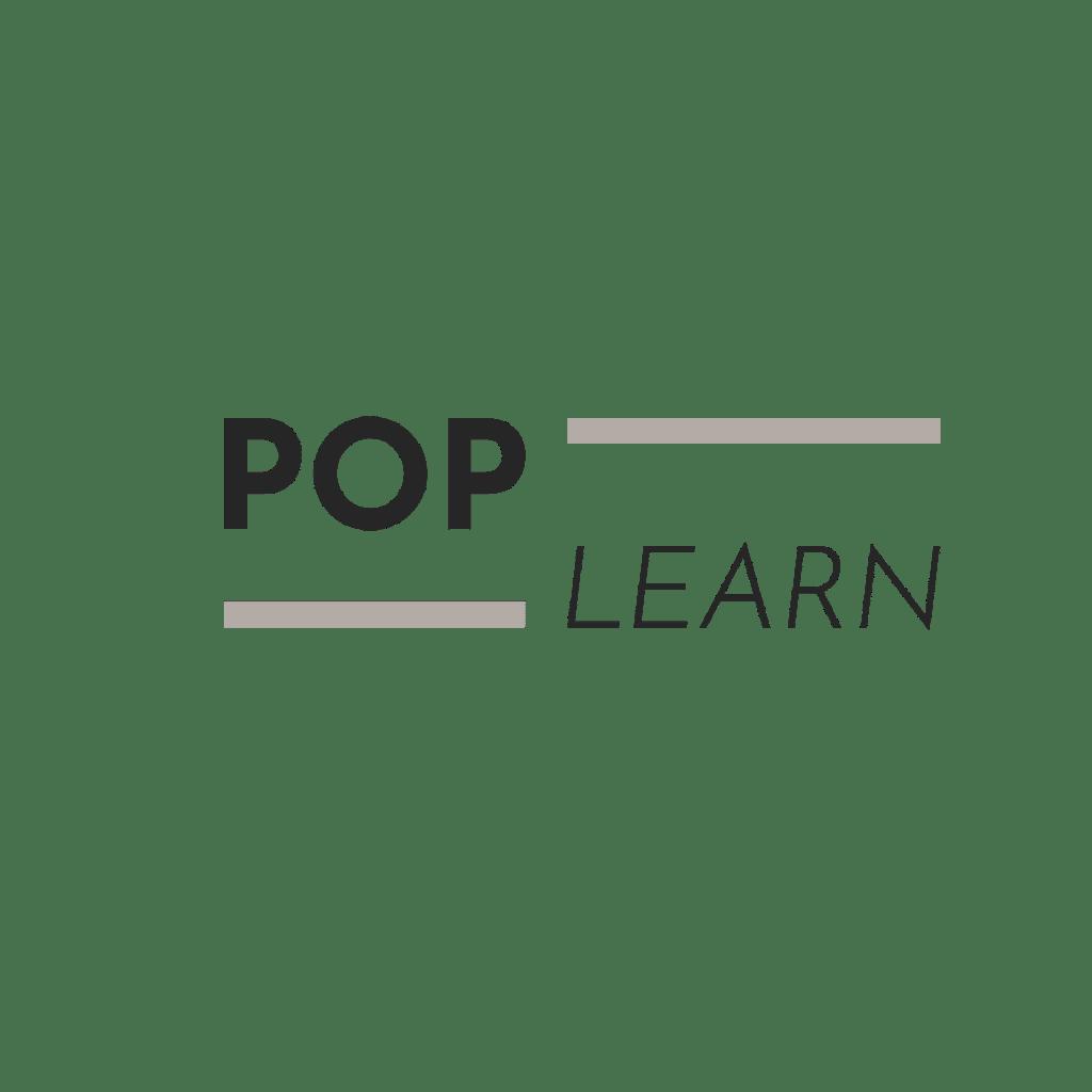 logo POP LEARN pour le Hall 24 à Rouen