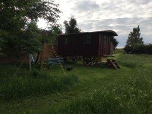 Shepherd's Hut with firebowl and Hammock
