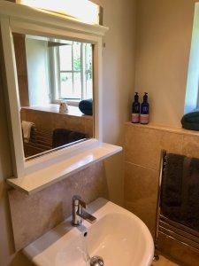 Shepherd's Hut Sink and Mirror