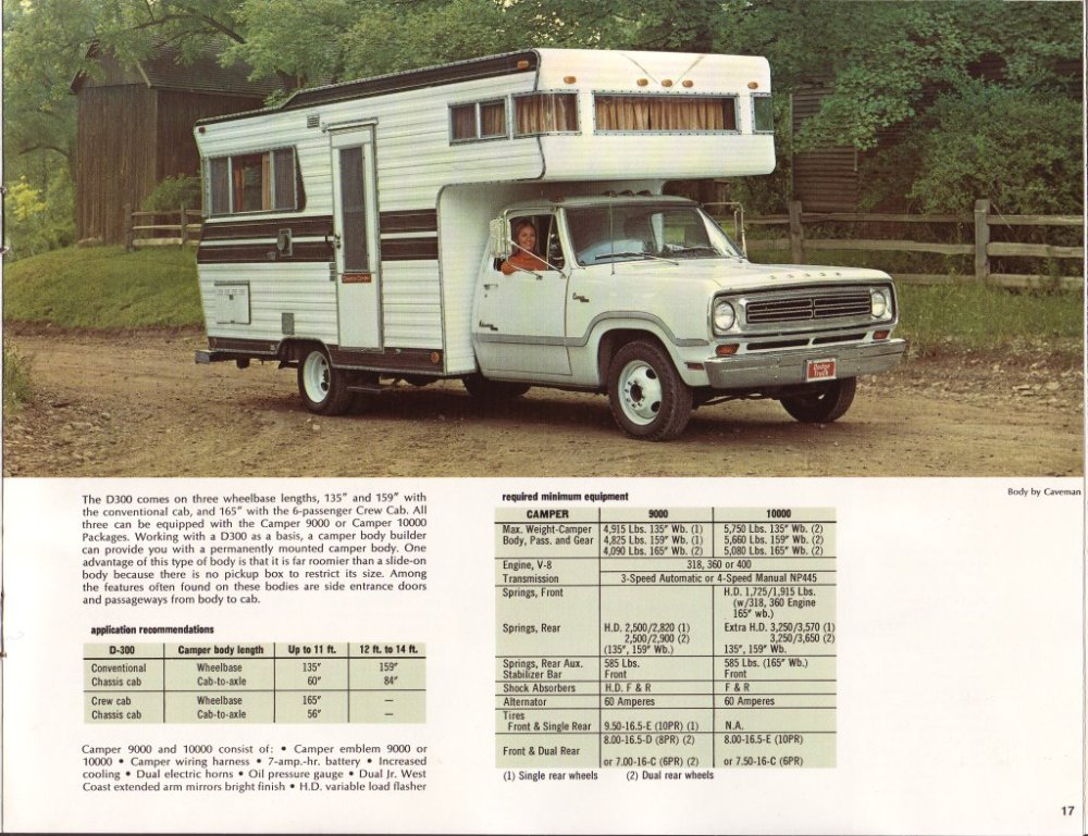 medium resolution of 1973 dodge campers factory brochure
