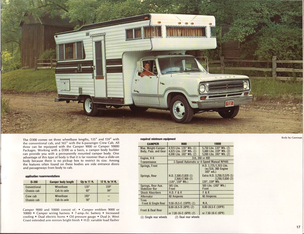 hight resolution of 1973 dodge campers factory brochure
