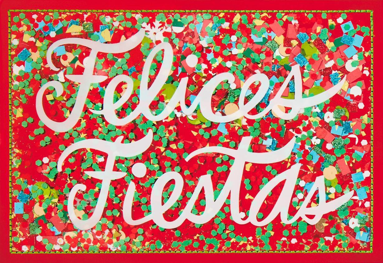 Felices Fiestas Spanish Language Christmas Card Greeting
